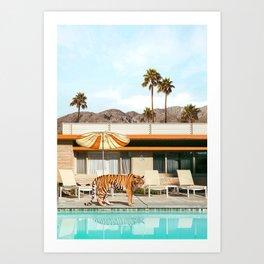 Pool Party Tiger Kunstdrucke