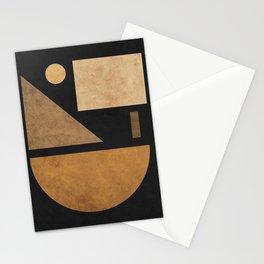 Geometric Harmony Black 03 - Minimal Abstract Stationery Cards
