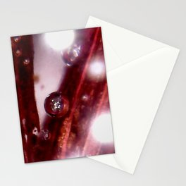 Crimson Flare Stationery Cards