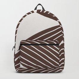 Minimal Tropical Leaf - Earth Brown Backpack