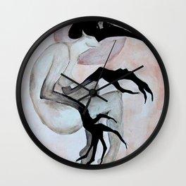 The Crow Woman Wall Clock