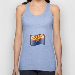 Waving Flag of Arizona  Unisex Tank Top