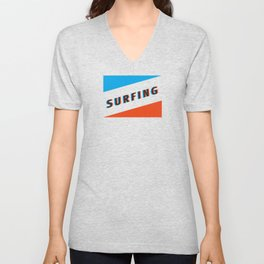 SURFING 3D Unisex V-Neck