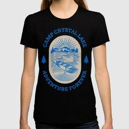 Camp Crystal Lake Adventure Forever Retro Slasher Horror Halloween Design T-shirt