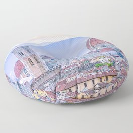 Cathedral of Santa Maria del Fiore  Florence Italy Floor Pillow