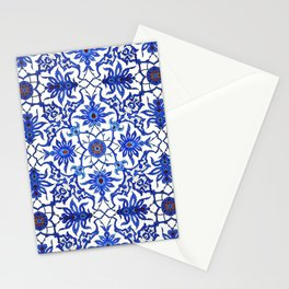 Art Nouveau Chinese Tile, Cobalt Blue & White Stationery Cards