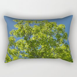 Summer Ash Tree in Crystal Blue Sky Rectangular Pillow