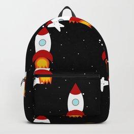 Rocket Pattern Backpack