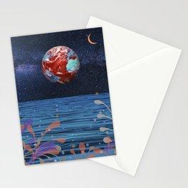 Surreal horizon Stationery Cards
