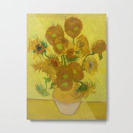 Vincent van Gogh - Sunflowers Metal Print
