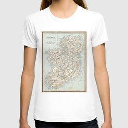 Vintage Map of Ireland (1893) T-shirt