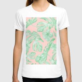Island Life Seashell Pink + Light Green T-shirt