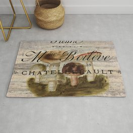 french country forest magical fairytale nature woodland magic mushroom Rug
