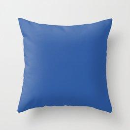 Deep Spring Blue Throw Pillow