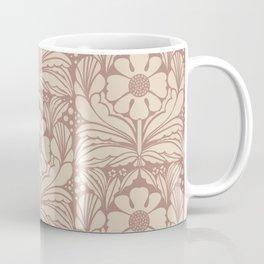 Daisy Dot Block Dusty Rose Coffee Mug