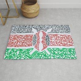 kenyan flag  Rug