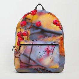 Delicate Hawthorn Berries In Autumn Backpack