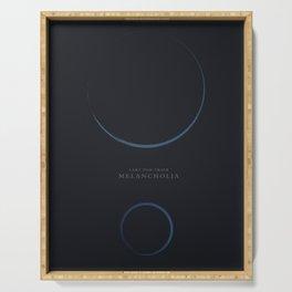 Melancholia, Lars Von Trier, minimalist movie poster Serving Tray