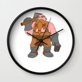 Blacksmith Metal Worker Iron St Clements Day Wall Clock