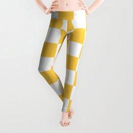 Checkered (Orange & White Pattern) Leggings