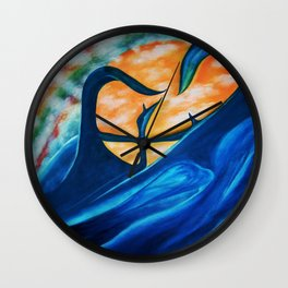MORNING STAR RISING Wall Clock
