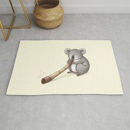 Koala Playing the Didgeridoo Rug