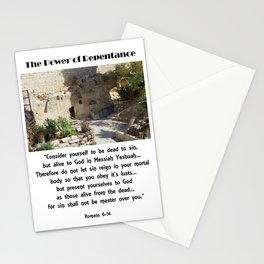 Power of Repentance Stationery Cards