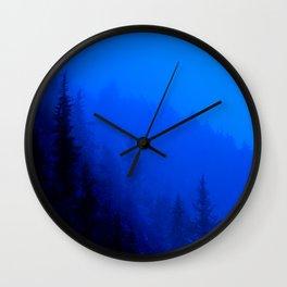 Blue Mist - Kenai Peninsula, Alaska Wall Clock