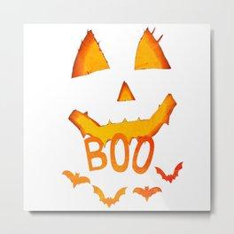 boo Happy Halloween pumpkin Metal Print
