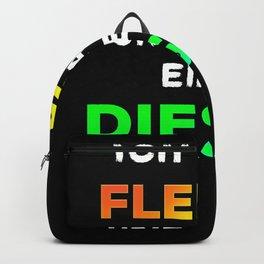 Car Diesel driver ban funny slogan anti Backpack