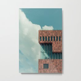Architecture Photography of MAS, Antwerp | Buildings in summer | Clouds Metal Print