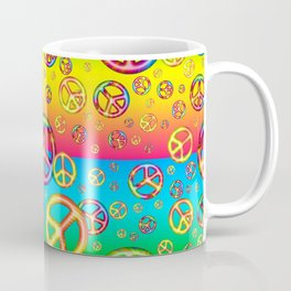 Crazy Kids Colors, Peace Out Coffee Mug