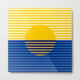Yellow Split Sun Metal Print