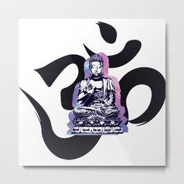 Ohm Wave Metal Print