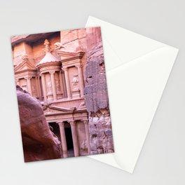 Petra Al Khazneh Treasury Temple Ruins by Day Stationery Cards
