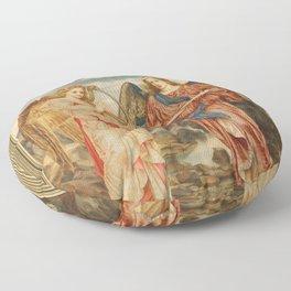 Angels of glory - beautiful artwork Floor Pillow