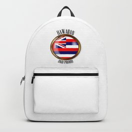 Hawaii Proud Flag Button Backpack