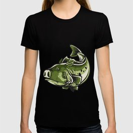 Funny Bass Fishing Men Women Jig Pig  T-shirt