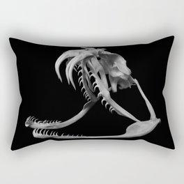 Gaboon Viper Skull 1 Lp Rectangular Pillow