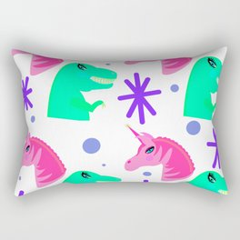 Trex and Unicorn Rectangular Pillow