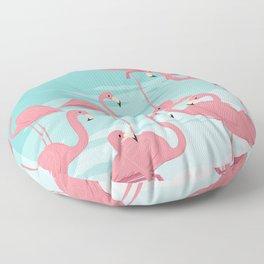 Kitschy Retro Flamingos Floor Pillow