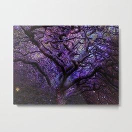 Mystic Tree of Knowledge Purple Metal Print
