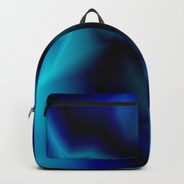 Mystical cosmic sparkling lightning of light blue zigzags and yellow spots. Backpack