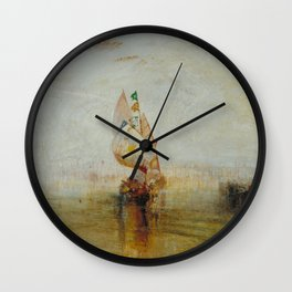 Joseph Mallord William Turner - The Sun of Venice Going to Sea Wall Clock