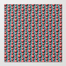 Bead Pattern, Coral & Turqoise Canvas Print