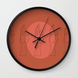 Vayu Mudra Wall Clock