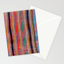 Qashqa'i Antique Fars Southwest Persian Striped Kilim Print Stationery Cards