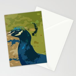 Peacock Portrait Stationery Cards