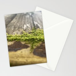 Moss-Covered Wood Stationery Cards