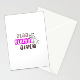 zero fluffs given design item Stationery Cards